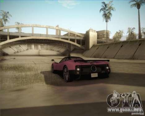 Pagani Zonda F V1.0 para vista inferior GTA San Andreas
