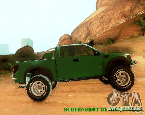 Ford F150 2011 SVT RapTor para la vista superior GTA San Andreas