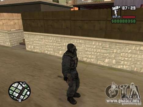 Mercenario acosador de máscara para GTA San Andreas sucesivamente de pantalla