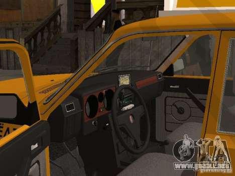 Volga GAZ 31029 Taxi para GTA San Andreas vista posterior izquierda