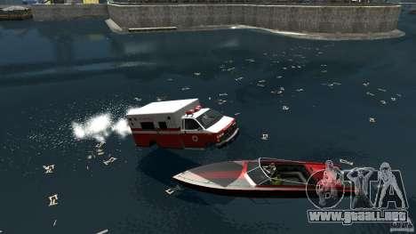 Ambulance boat para GTA 4 visión correcta