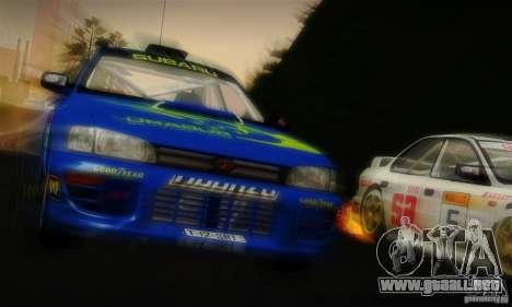 Subaru Impreza 1995 World Rally ChampionShip para vista inferior GTA San Andreas