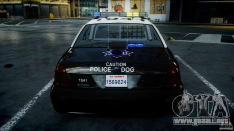 Ford Crown Victoria SFPD K9 Unit [ELS] para GTA motor 4