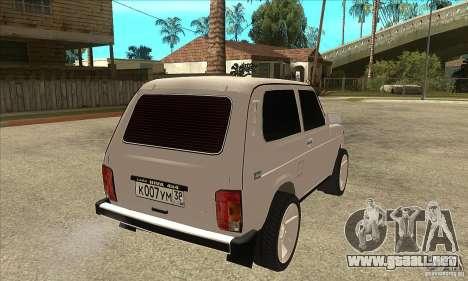 VAZ 21213 NIVA teñido para la visión correcta GTA San Andreas