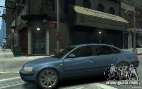 Volkswagen Passat B5 Final para GTA 4 left