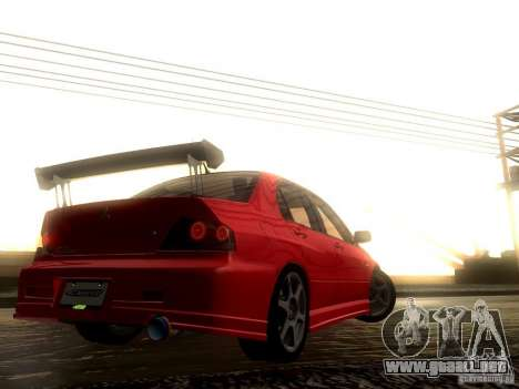 Mitsubishi Lancer Evolution VIII Full Tunable para la vista superior GTA San Andreas