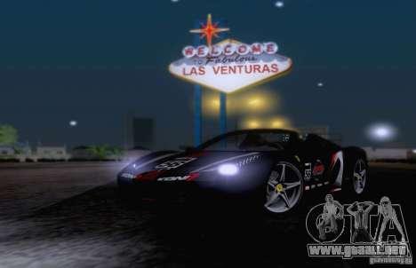 Ferrari F458 para la vista superior GTA San Andreas