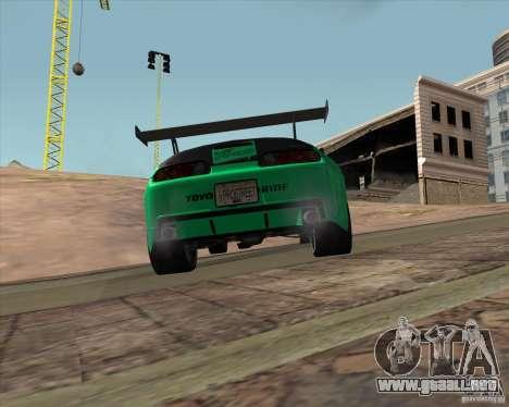 Toyota Supra ZIP style para GTA San Andreas vista hacia atrás