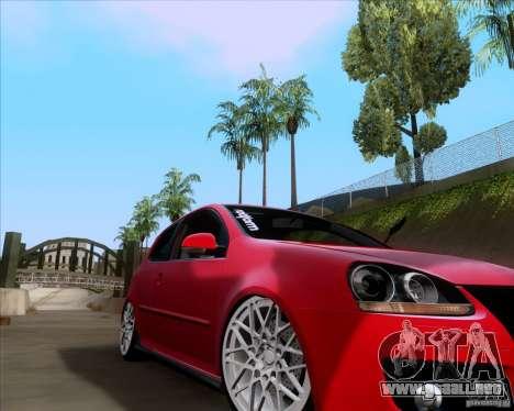 Volkswagen Golf MK5 GTI Stance para GTA San Andreas left