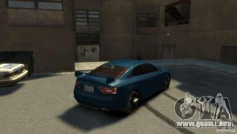 Audi S5 para GTA 4 Vista posterior izquierda