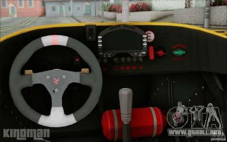 Radical SR3 RS 2009 para visión interna GTA San Andreas