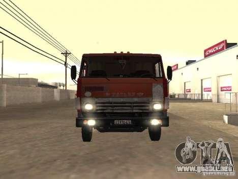 KAMAZ 5410 para GTA San Andreas vista posterior izquierda