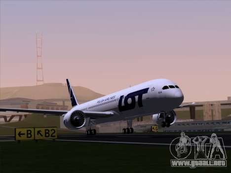 Boeing 787-9 LOT Polish Airlines para GTA San Andreas vista hacia atrás