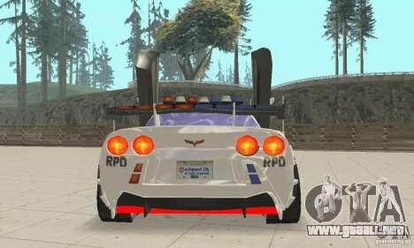 Chevrolet Corvette C6 sargento de policía Cruz N para visión interna GTA San Andreas