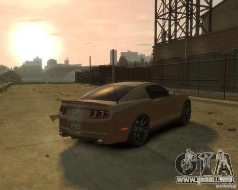 2011 Shelby GT500 Super Snake para GTA 4 Vista posterior izquierda