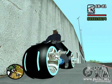 Tron legacy bike v.2.0 para la visión correcta GTA San Andreas