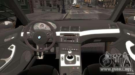 BMW M3 E46 Tuning 2001 v2.0 para GTA 4 visión correcta