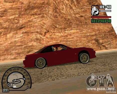 Nissan Silvia S14 DoRiftar para GTA San Andreas vista posterior izquierda