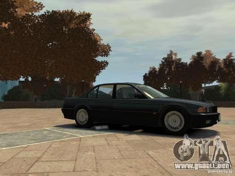 BMW 750i (E38) 1998 para GTA 4 Vista posterior izquierda