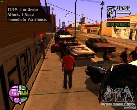 Persiguiendo a las máquinas para GTA San Andreas tercera pantalla