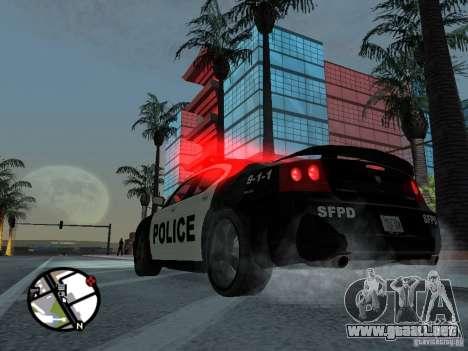 Dodge Charger Police para GTA San Andreas left
