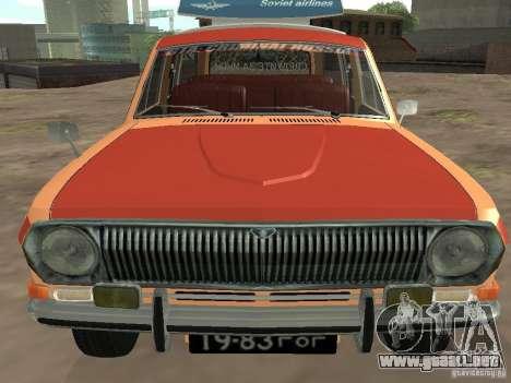 Volga GAZ-24 AEROFLOT 02 para GTA San Andreas vista hacia atrás