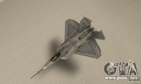 YF-22 Grey para la visión correcta GTA San Andreas