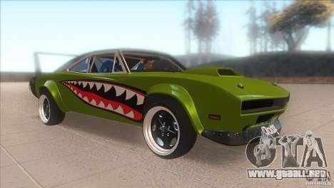 Dodge Charger RT SharkWide para GTA San Andreas vista hacia atrás