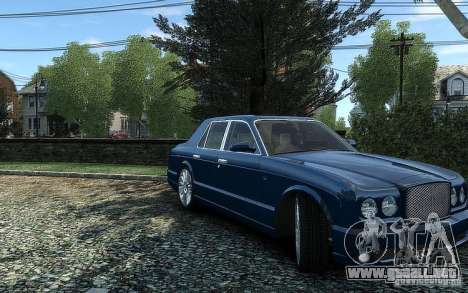 Bentley Arnage T para GTA 4 visión correcta