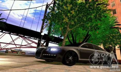 Audi A6 Blackstar para GTA San Andreas interior