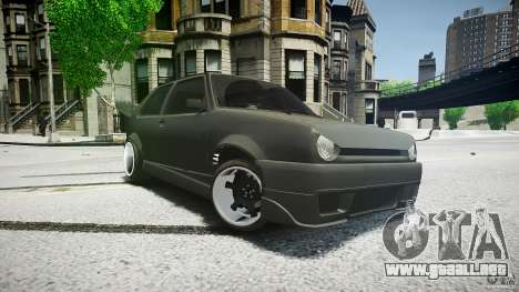 Volkswagen Golf 2 Low is a Life Style para GTA 4 Vista posterior izquierda