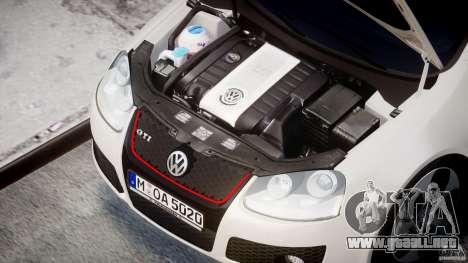 Volkswagen Golf GTI 2006 v1.0 para GTA 4 vista hacia atrás
