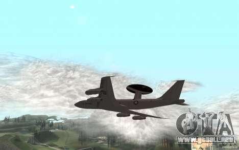 Boeing E-3 Sentry para GTA San Andreas vista posterior izquierda