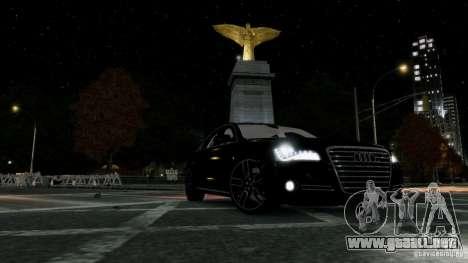 Audi A8 LED 2012 para GTA 4 vista superior