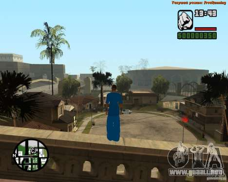 Piel Tracer para GTA San Andreas sucesivamente de pantalla
