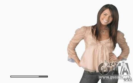 Las pantallas de arranque Megan Fox para GTA San Andreas sexta pantalla