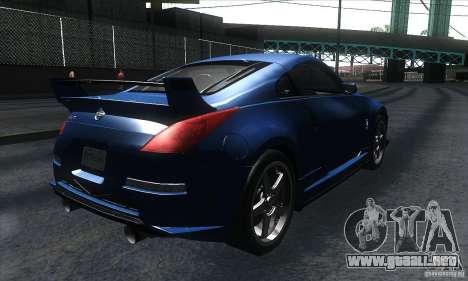 Nissan 350Z Varis para la visión correcta GTA San Andreas