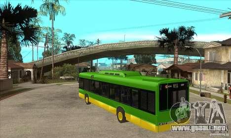 Solaris Urbino 11 para GTA San Andreas vista posterior izquierda