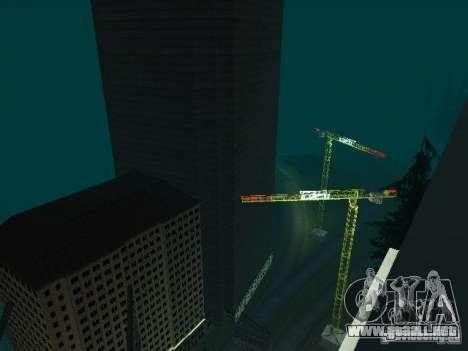 Nueva ciudad v1 para GTA San Andreas octavo de pantalla