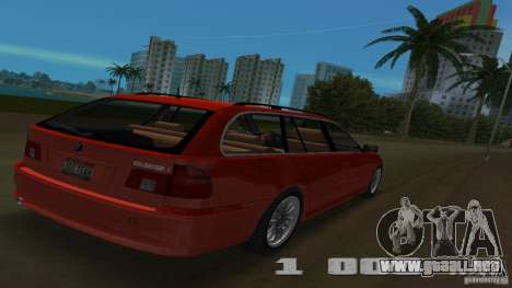 BMW 5S Touring E39 para GTA Vice City vista posterior