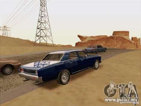 Chevrolet Chevelle para GTA San Andreas vista hacia atrás