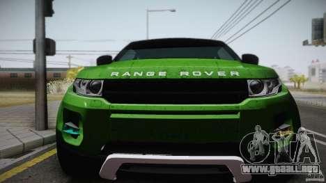 Land Rover Range Rover Evoque v1.0 2012 para la visión correcta GTA San Andreas