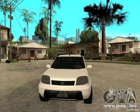 NISSAN X-TRAIL 2001 para GTA San Andreas vista hacia atrás