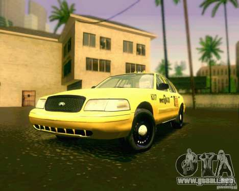 Ford Crown Victoria 2003 NYC TAXI para GTA San Andreas left