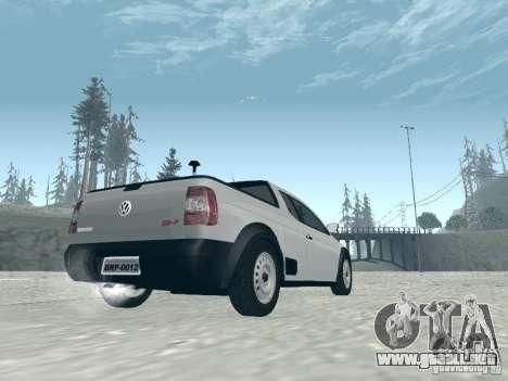 Volkswagen Saveiro 1.6 2009 para GTA San Andreas left