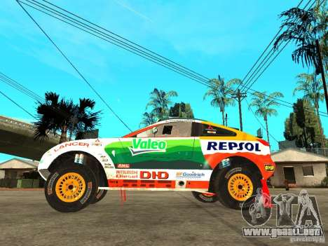 Mitsubishi Racing Lancer from DIRT 2 para GTA San Andreas left