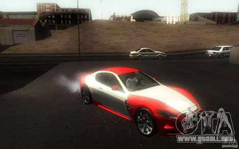 Maserati Gran Turismo S 2011 para vista lateral GTA San Andreas