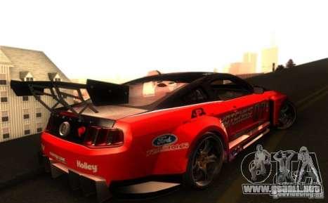 Ford Mustang Shelby GT500 V1.0 para visión interna GTA San Andreas