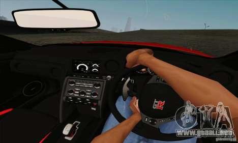 Nissan GT-R R-35 2012 para GTA San Andreas vista hacia atrás