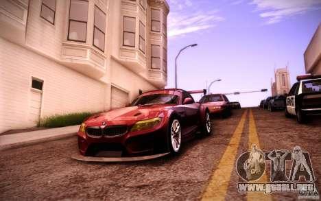 BMW Z4 E89 GT3 2010 para la vista superior GTA San Andreas